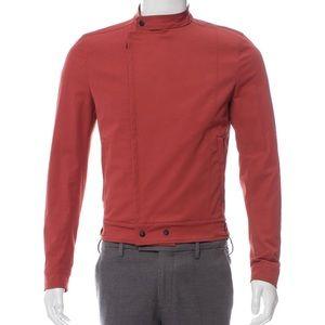 Bottega Veneta Men Asymmetrical Cafe Racer Jacket